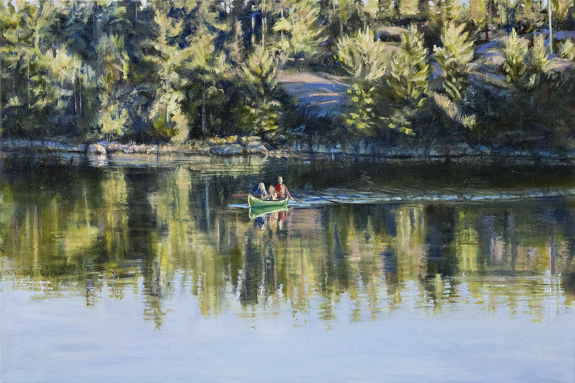 Peaceful Paddle oil 20 x 30 $900.00